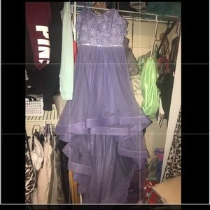 Dresses & Skirts - Purple sparkly high-low prom dress size1.
